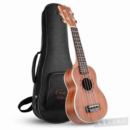 Hricane Soprano Ukulele UKS-1 21寸 专业夏威夷小吉他/尤克里里3折 53.59加元限量特卖并包邮!
