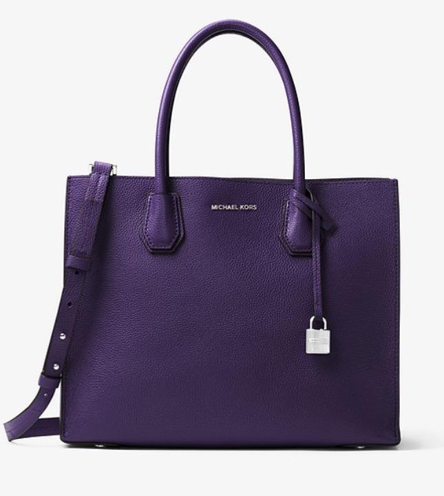 MICHAEL KORS Mercer 大号紫色款小方包 226.8加元,原价 378加元,包邮