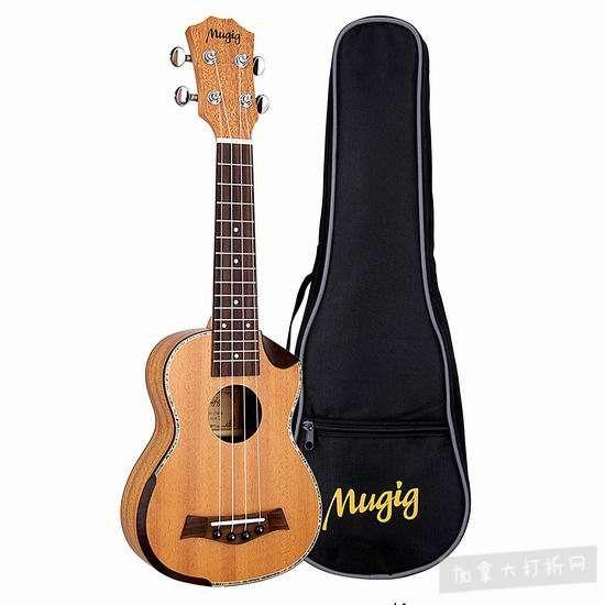 历史新低!Mugig Soprano Ukulele 21寸夏威夷小吉他/尤克里里3.2折 25.99加元清仓!