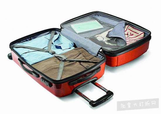 红红火火过新年!Samsonite 新秀丽 Winfield 2 时尚橘红 硬壳拉杆行李箱3件套 348.98加元包邮!