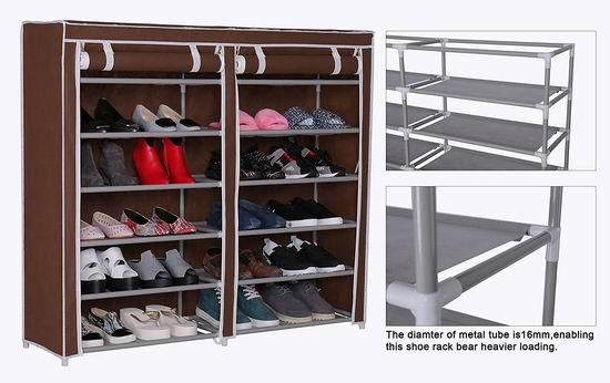 速抢!Homebi 带防尘罩 双排六层鞋架4.3折 16.99加元限量特卖并包邮!