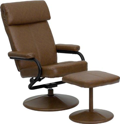 历史新低!Offex OF-BT-7863-PALOMINO-GG 皮革软垫躺椅+脚踏4折 148.77加元包邮!