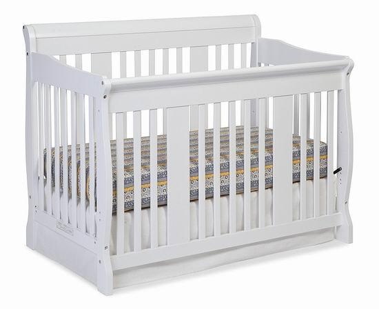 历史最低价!Storkcraft Tuscany 四合一多功能成长型婴儿床5.7折 199.99加元包邮!会员专享!