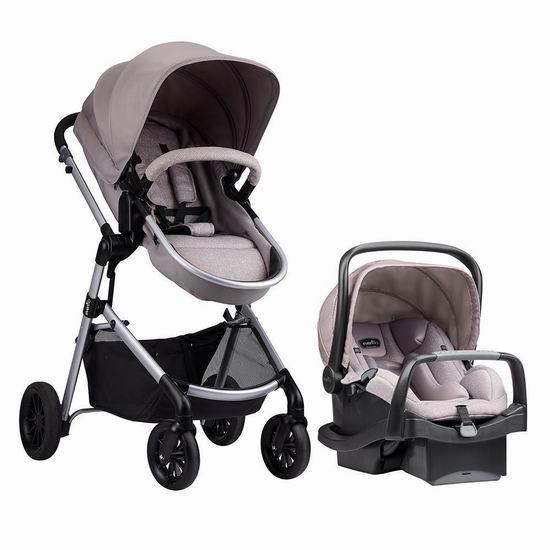历史新低!Evenflo Pivot Modular 高景观婴儿推车+提篮安全座椅旅行套装5.9折 279.97加元包邮!