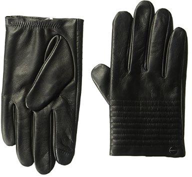 白菜价!Calvin Klein Quilted Driver 中性 可触控 真皮保暖手套1.8折 16.14加元清仓!
