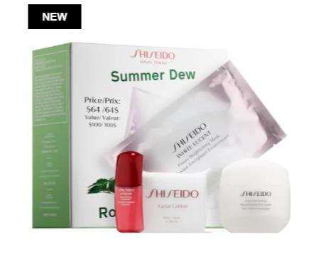 新款 Shiseido 资生堂 Summer Dew 3件套装 64加元(价值 100加元)