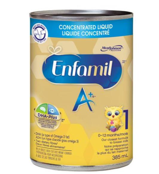 Enfamil A+ 美赞臣1段 即开即用液体奶 46.97加元(12×358ml),原价 52.98加元