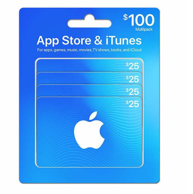 App 苹果 Store & iTunes礼品卡  4 x 25加元仅售83.99加元!