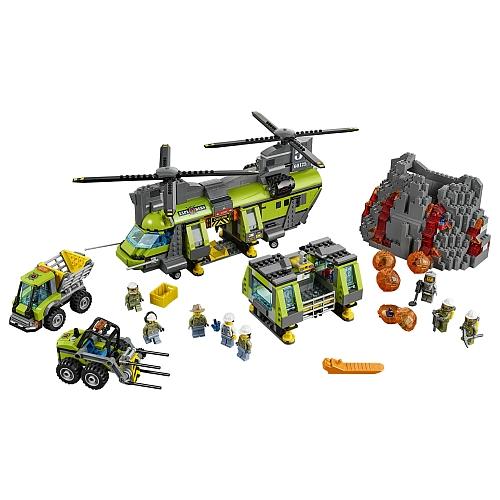 LEGO 乐高 60125 城市系列 火山探险重型空运直升机 75.57加元,原价 125.99加元,包邮