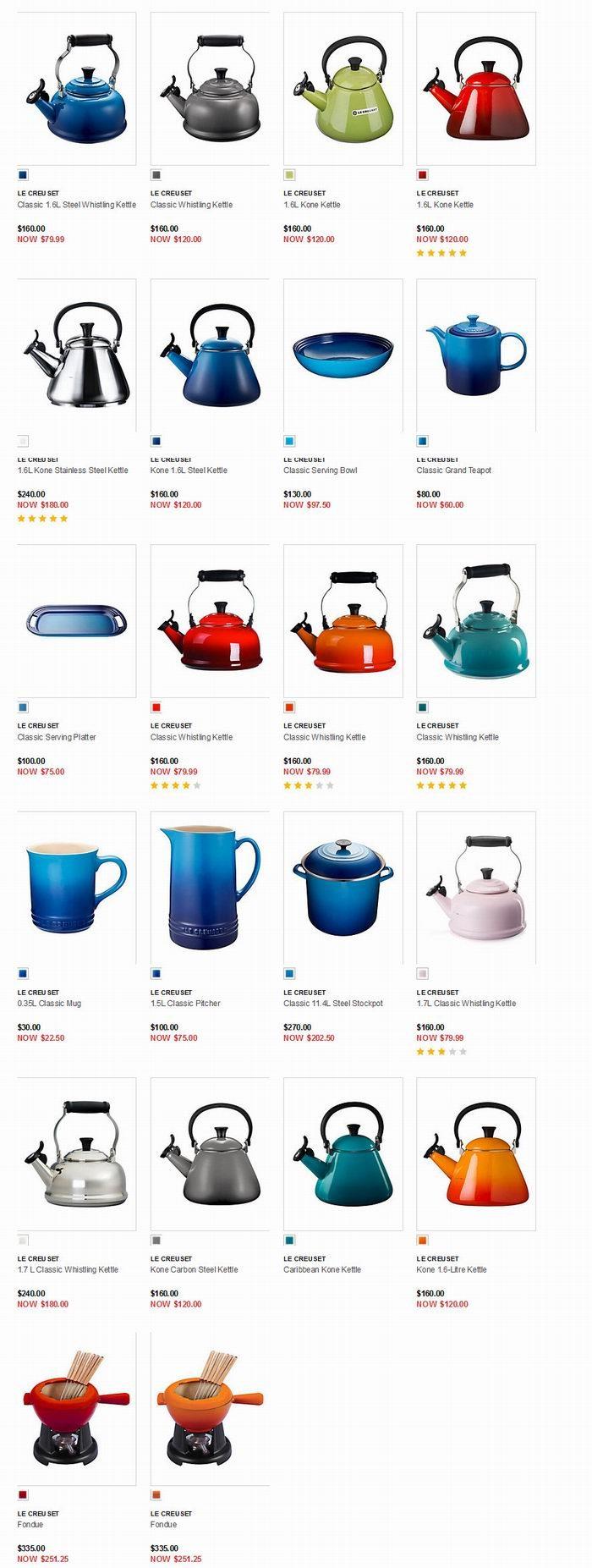精选 Le Creuset Kone 珐琅铸钢茶壶/鸣响烧水壶 4.5折 71.99加元!多色可选!