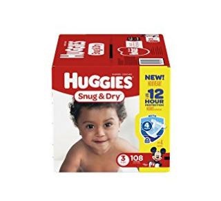 Huggies Snug & Dry 婴幼儿纸尿裤 18.97加元(Size 3,108片),原价 29.97加元