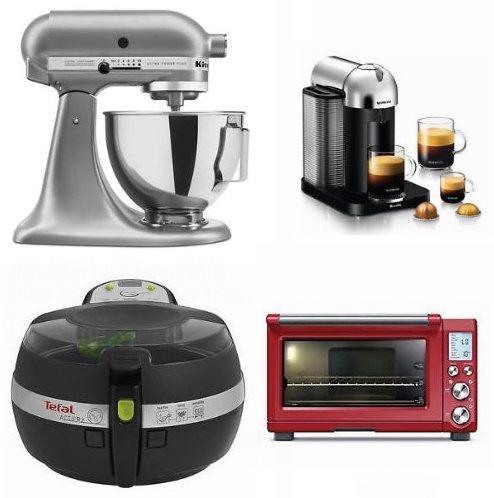精选 KitchenAid、Breville、T-FAL、Nespresso 等品牌厨师机、空气炸锅、咖啡机、搅拌机等家电4折起!额外8折!