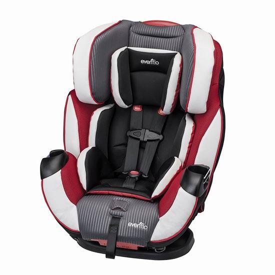 Evenflo Symphony Elite 三合一成长型儿童汽车安全座椅5.6折 179.87加元包邮!