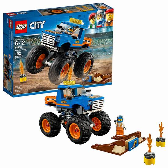 LEGO 乐高 60180 怪物巨轮越野车 19.98加元,原价 24.99加元