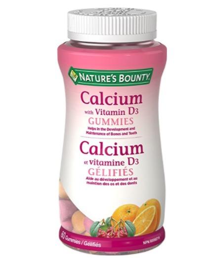 Nature's Bounty 自然之宝  钙+维生素D3 果味软糖 6.97加元(60粒),原价 9.37加元