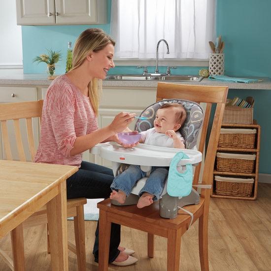 Fisher-Price 费雪 Spacesaver两用婴儿餐椅 49.99加元,原价 64.99加元,包邮