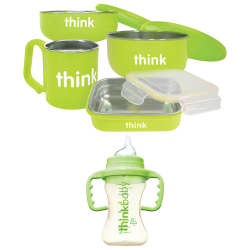 Thinkbaby The Complete 儿童餐具套装+吸管杯 39.99加元,原价 59.99加元,包邮