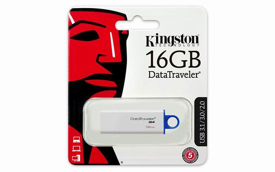 Kingston 金士顿 Digital Data Traveler 3.0 16GB U盘4.2折 8.13加元!