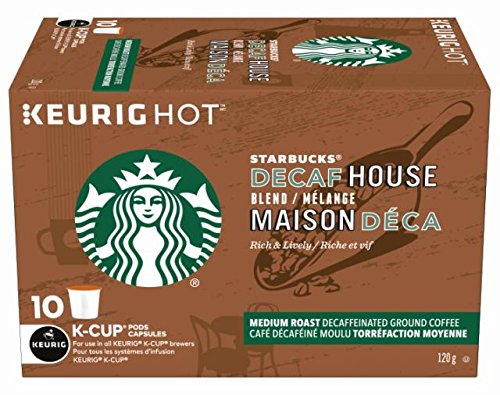历史新低!Starbucks 星巴克 House Blend Decaf 无咖啡因 K-Cup咖啡胶囊(60粒)4.7折 41.09加元包邮!