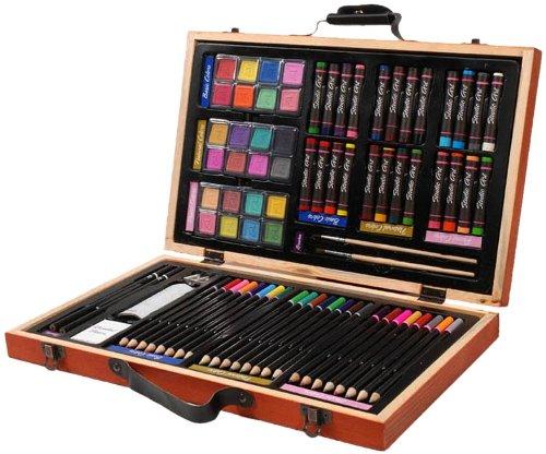 历史新低!Darice 儿童画笔 豪华木盒套装(80件套)3.4折 17.83加元清仓!