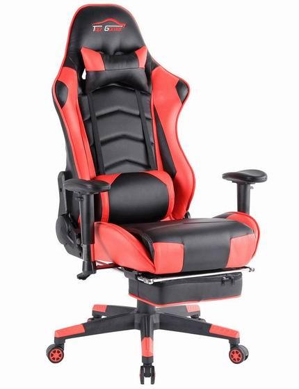 Top Gamer 人体工学 高靠背赛车办公椅/游戏椅 203.99加元起限量特卖并包邮!多色可选!