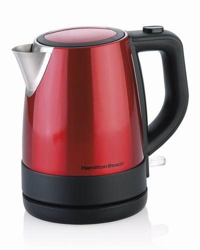 历史最低价!Hamilton-Beach 40798C 1L 红色时尚 不锈钢电热水壶 29.99加元!