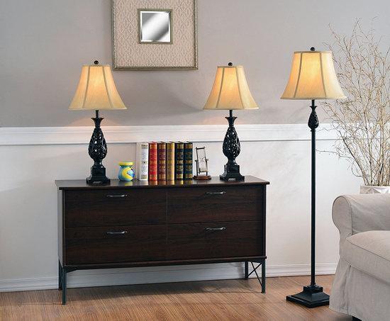 历史新低!Kenroy Home 21017GFBR Prescott 青铜色 复古台灯+落地灯3件套3.3折 79.95加元包邮!