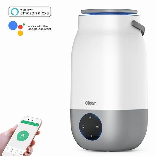 Oittm 3升 智能WiFi超声波加湿器 67.99加元限量特卖并包邮!
