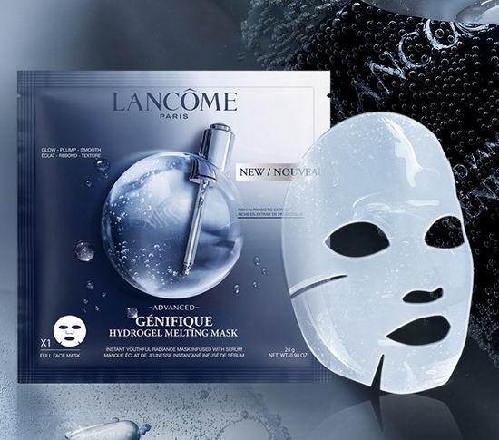 新品上市!Lancome 兰蔻 Advanced Génifique 新精华肌底液水凝胶溶化薄片面膜(4片)70加元!满送6件套大礼包!