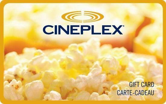 Cineplex影院 今日网购35加元电子礼品卡,送一份正装爆米花提货券!