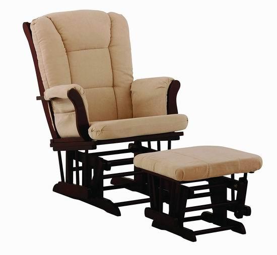 历史新低!Storkcraft Custom Tuscany 实木哺乳椅/育婴椅/软垫躺椅6折 179.11加元包邮!