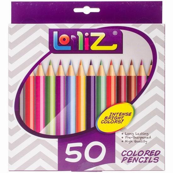 白菜价!历史新低!LolliZ 50色彩色铅笔2.9折 5.99加元清仓!