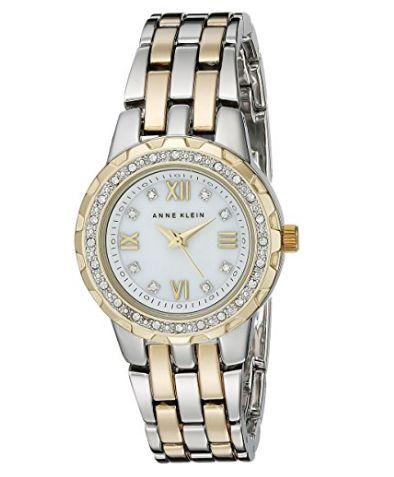 历史新低!Anne Klein AK/1509MPTT 施华洛世奇水晶 女士腕表/手表3.6折 45.17加元包邮!