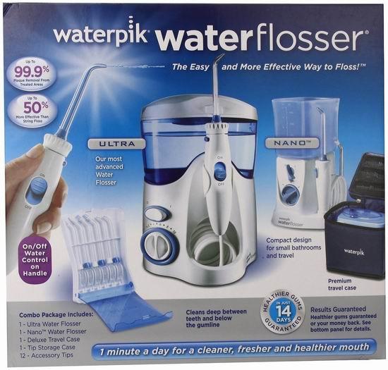 历史新低!Waterpik 洁碧 Ultra+Nano Water Flosser 家庭冲牙器/水牙线 豪华套装4.7折 79.99加元包邮!