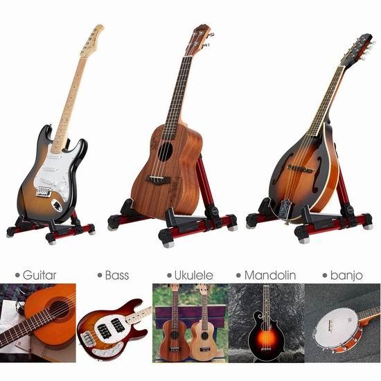 白菜价!Mugig 便携式吉他/乐器支撑架1.8折 11.04加元限量特卖!