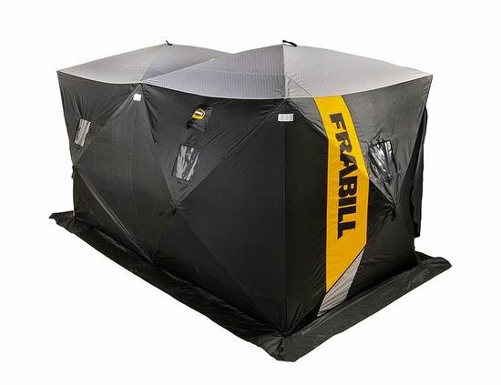 Frabill HQ 300 Hub 6人冰钓帐篷6.6折 231.17加元限量特卖并包邮!