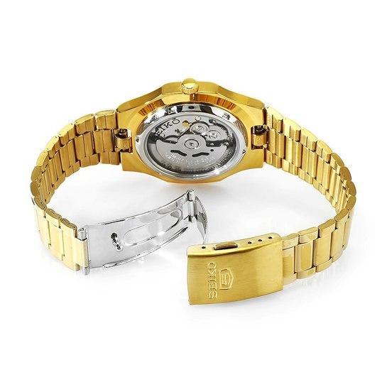 历史新低!Seiko 精工5号 SNKK52 男式金色自动机械腕表/手表3.4折 76.66加元包邮!