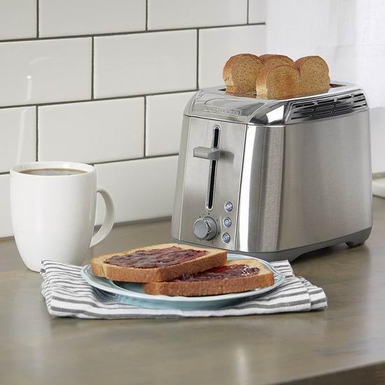 金盒头条:Black & Decker TR3500SD 不锈钢4片烤面包机6折 37.59加元包邮!