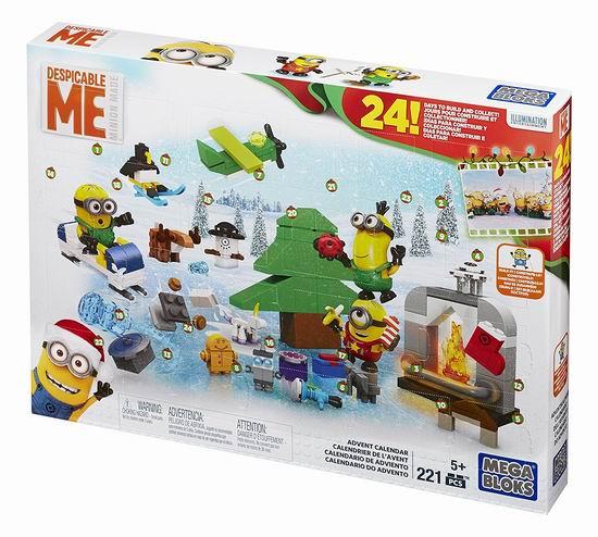 白菜价!Mega Construx Block Minion 小黄人 圣诞倒数日历积木2.5折 9.9加元清仓!