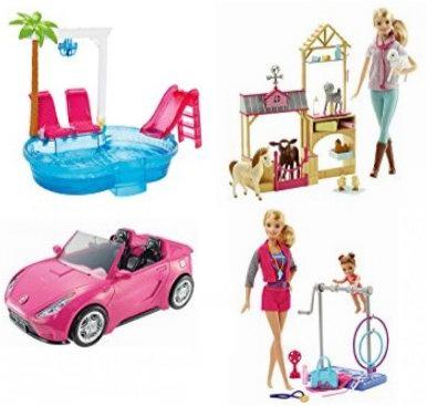 金盒头条:精选31款 Barbie 芭比玩偶及玩具套装4折起特卖!售价低至6.99加元!