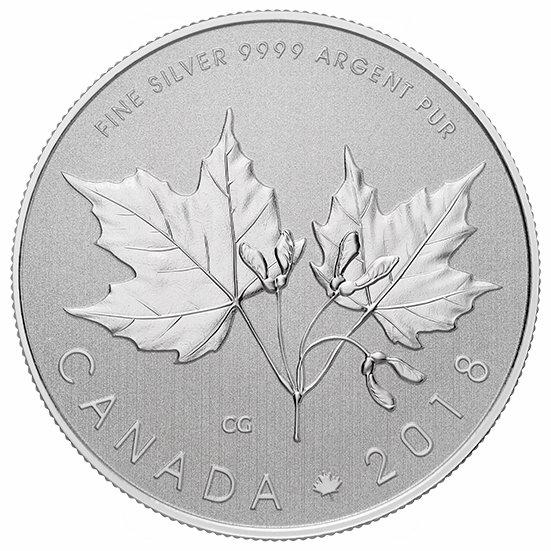 销量冠军!皇家铸币厂 2018加拿大枫叶纯银纪念币 34.95加元包邮!