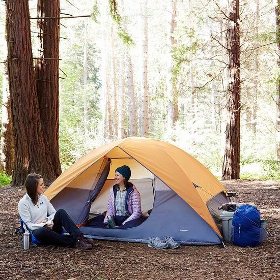 历史新低!AmazonBasics 4人家庭野营帐篷 55.89加元包邮!