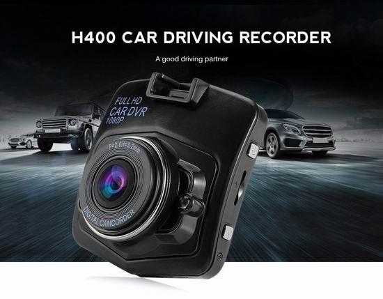 AutoLover 1080P全高清 170度超大广角 行车记录仪 24.31加元限量特卖并包邮!2色可选!