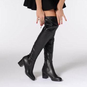 白菜价!Aldo ABIWIA 女式高跟过膝长筒靴2.1折 27.63加元起清仓!2色可选!