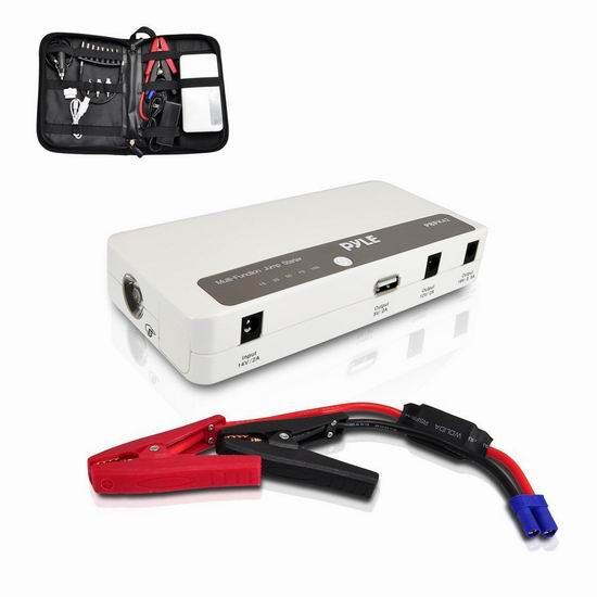 历史新低!Pyle 12000mAh 便携式移动电源/充电宝/手电筒/汽车电瓶紧急启动电源3.9折 49.32加元包邮!