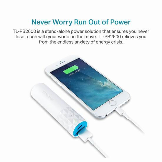 历史新低!TP-Link TL-PB2600 2600mAh 口红式 超迷你充电宝3.1折 9.96加元清仓!