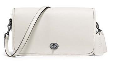 COACH Glovetanned 女士白色真皮斜挎包5.3折 140.45加元包邮!