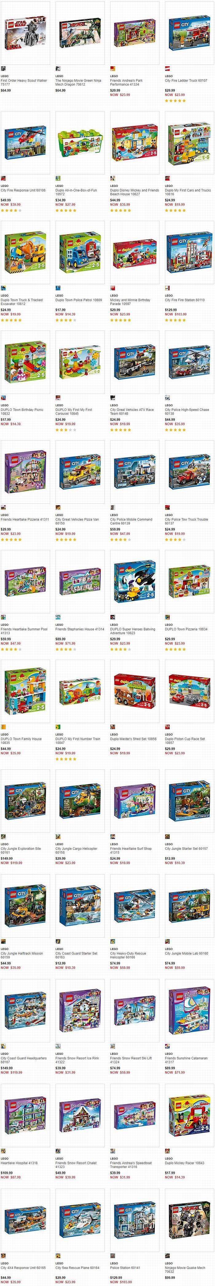 速抢!精选249款 Lego 乐高积木玩具6-6.7折!