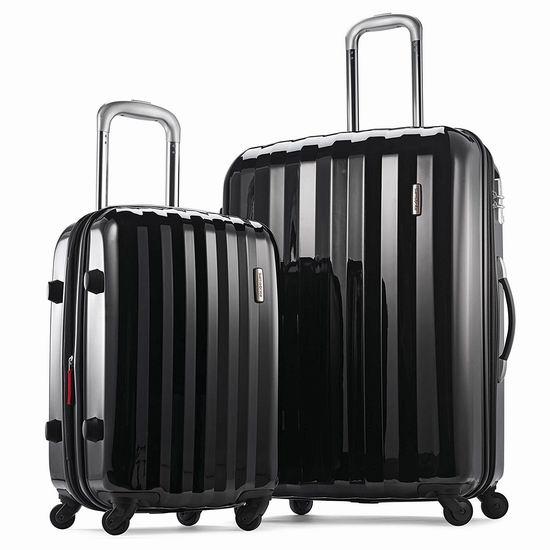 新品大促!Samsonite 新秀丽 Prism 全PC 黑色时尚硬壳拉杆行李箱(20/28寸)2件套 183.71加元包邮!