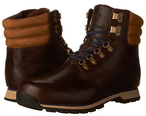 Timberland 添柏岚 HUTCHINGTON 男式真皮登山靴(9.5码)5.1折 86.41加元起包邮!2色可选!